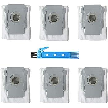 BSDY YQWRFEWYT Paquete de 6 Bolsas de eliminación de Suciedad de Repuesto para iRobot Roomba i7 (7150), i7 + / Plus (7550), s9 + (9550) Aspiradora Robot: Amazon.es: Hogar