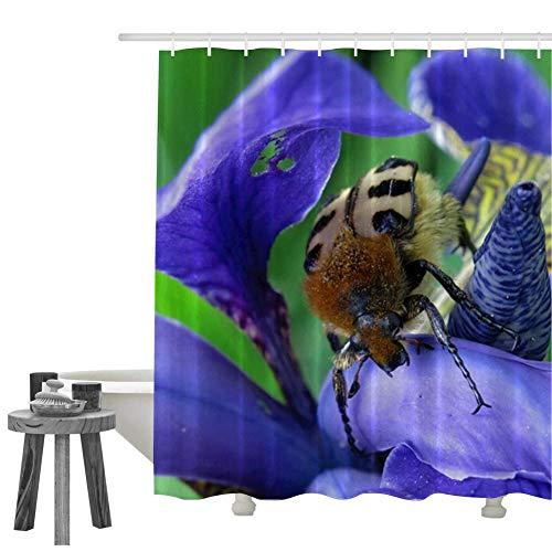 KIMOVE Bathroom Shower Curtain, Swamp lily-4227522 Fabric Waterproof Bath Curtain Set with Hooks Machine Washable