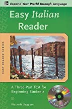 Easy Italian Reader: A Three-Part Text for Beginning Students [With CDROM]   [EASY ITALIAN READER W/CD] [Paperback]