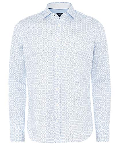 Hackett - Camiseta para Hombre con diseño de baldosas Finas, Color Blanco
