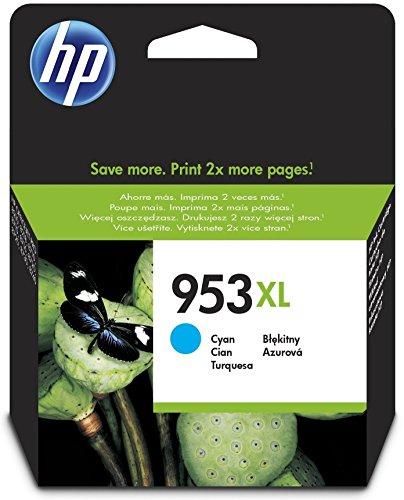 HP 953XL Cyan Original Druckerpatrone mit hoher Reichweite für HP Officejet Pro 8210, 8710, 8720, 8730, 8740