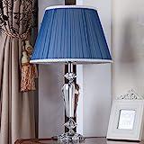 CJW Mode Kristall Tischlampe - Schlafzimmer Nachttischlampe - Wohnzimmer warm romantisch - rote Hochzeitsidee (Durchmesser 11,8 Zoll) (Color : B)