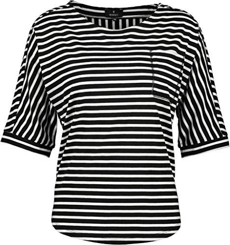 MONARI Shirt schwarz Ringel - 42