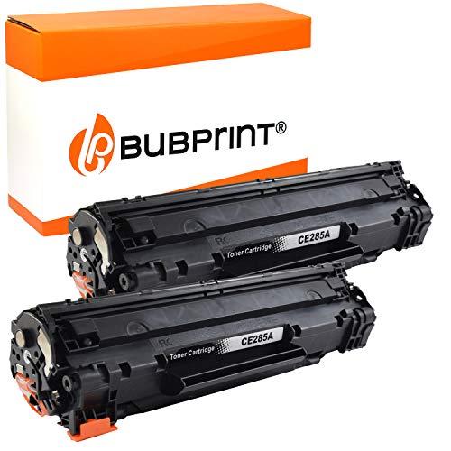 2 Bubprint Toner kompatibel für HP 85A CE285A für LaserJet Pro M1130 M1132 M1136 M1212nf M1217nfw MFP P1002 P1100 P1102 P1102w P1106 P1108 P1109w Schwarz