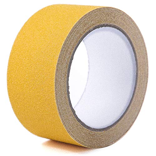 EONBON Anti Slip Tape Yellow, 2 Inch x 32.8 Feet Anti Skid Safety Grit Non Slip Tape, Non Skid Indoor and Outdoor Safety Track Tape for Stairs, Steps, Boats, Wheelchairs Ramps ¡