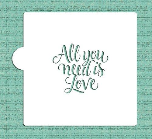 TODO lo que necesitas es amor Cookie y Craft plantilla para estarcir...