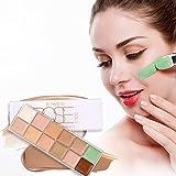 12 colores Corrector Camuflaje Blanqueamiento Base Maquillaje Cosmética Crema Perfecto para Profesional y Diario