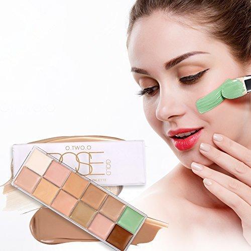 12 colores Corrector Camuflaje Blanqueamiento Base Maquillaje Cosmética Crema Perfecto para Profesional...