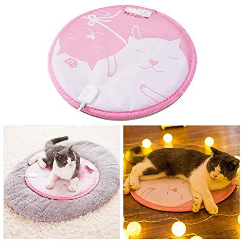 YLKCU Manta Electrica Almohadilla térmica para Mascotas pequeñas, Alfombrilla eléctrica para Gatos,...