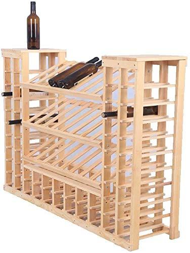 Weinregal Weinkühler Weinschrank Vitrine Schrank Aufmä Trennwand Bodenlagerregal Multifunktions-Hausbar Schrank Wohnzimmer Weinkeller,Beige