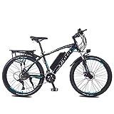 LYRWISHLY E-Bici Bicicleta de montaña Bicicleta eléctrica con el Sistema de 27 velocidades de transmisión, 350W, 13Ah, 36V de Litio-Ion, 26' Pulgadas, Pedelec City Bike Ligera Urbana al Aire Libre