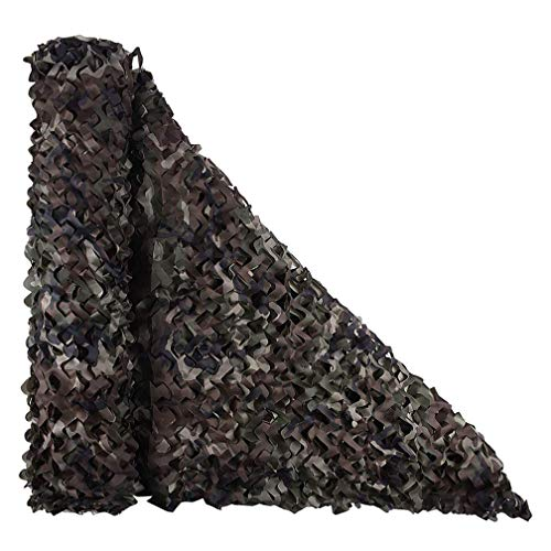 QI-CHE-YI camouflagennet anti-counternd net zonwering mesh buitenzonnebescherming decoratieve Mountain green-in elkaar grijpen,3 * 4