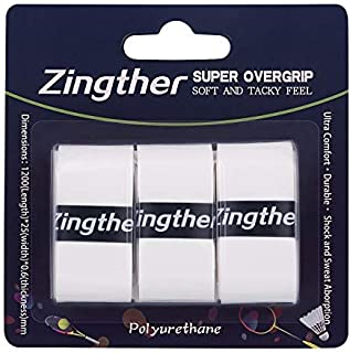 Zingther Professional Premium Super Tacky Overgrips for Tennis Racket/Badminton Racquet/Squash/Racquetball and Pickleball ...