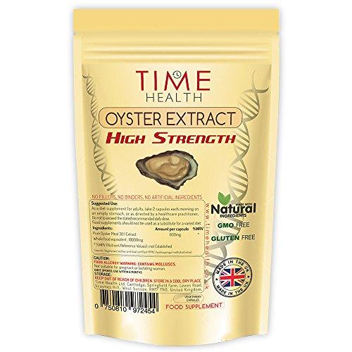 Austern Extrakt Kapseln – Testosteron-Booster, Libido-Booster, reines Austernfleisch hoch konzentrierter Extrakt – Reich an natürlichem Taurin und Zink – Ohne Zusätze (120 Kapseln pro Beutel)