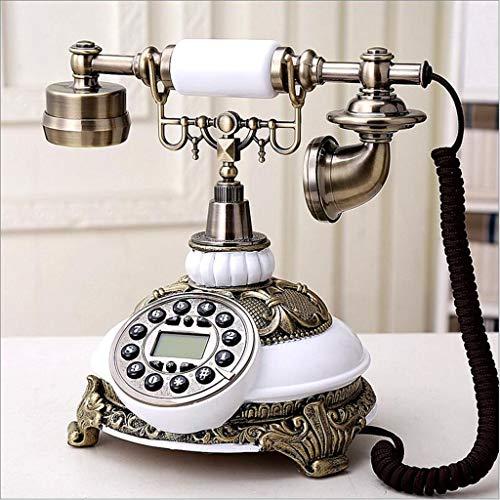 YUBIN Teléfono Teléfono a Domicilio de Teléfono Retro Europeo Teléfono Fijo Fijo (Color: A) (Color : A)