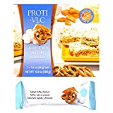 Proti Fit VLC - Salted Toffee Pretzel Low-Carb 15g Protein Diet Bar - High Fiber Weight Loss Snack/Post Workout Protein Bar Bar - Gluten Free (7 Count)