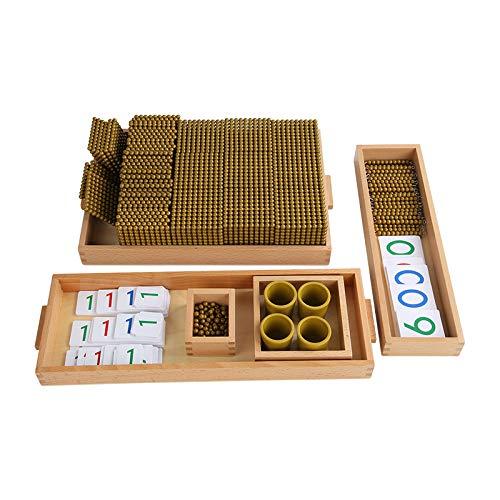 Adena Montessori Golden Beads Materials Decimal System Bank Game Mathematics