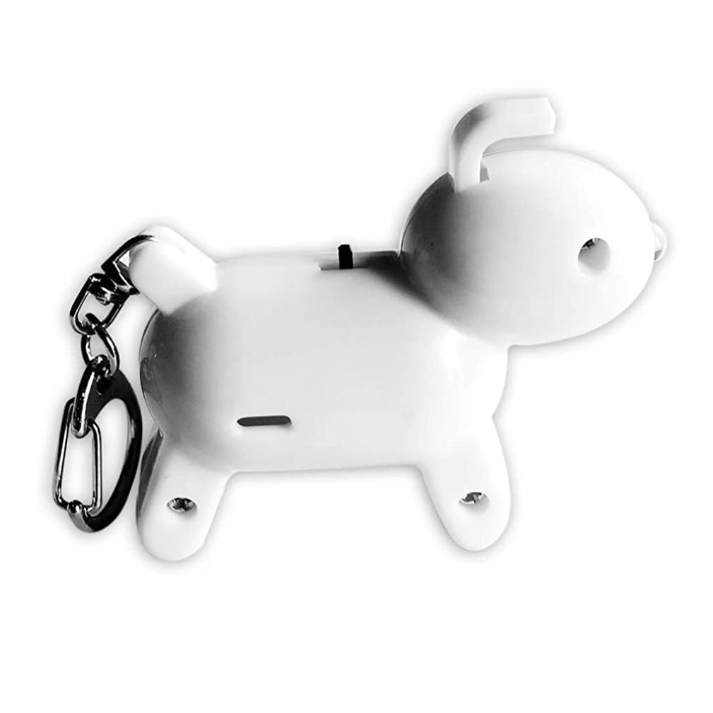 Amaping Item Finder Smart Key Pets Kids Locator Anti-Lost Alarm Mini Puppy Shape Wireless Car Motor GPS Realtime Tracker Device (White)