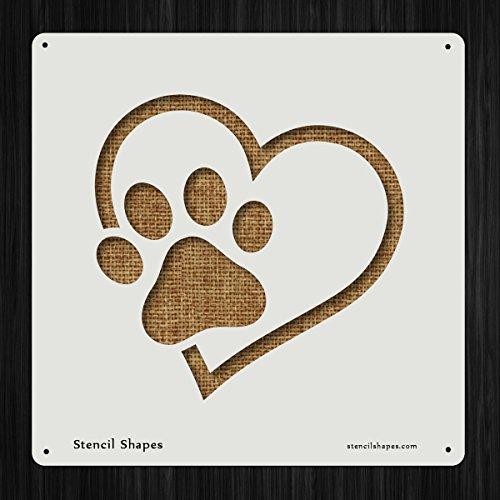 Paw Print Pet Love Dog Style 15408 DIY Plastic Stencil Acrylic Mylar Reusable