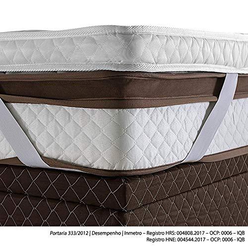 Pillow Top Avulso Herval com elástico, Queen 158 x 198 x 9 cm