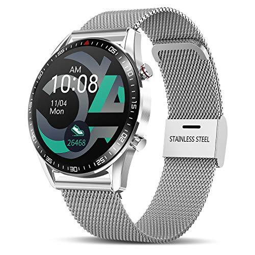 TagoBee Smartwatch Reloj Inteligente Hombres Mujer con Monitor de Sueño Presión Arterial Pulsómetros,1.3inch Pantalla Táctil Impermeable IP67 Reloj Deportivo Hombre Caloría Podómetro para Android iOS