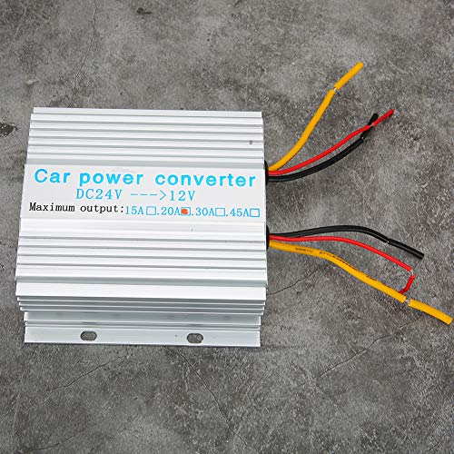 Changor Corriente Continua 24v para 12v 20A Coche Poder Convertidor, Aplicable Voltaje Convertidor Transformador 240W Aluminio 13-40v