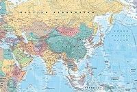 アジアと中東の地図 参照ポスター 36x24