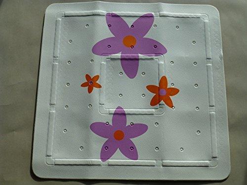Duscheinlage Antirutschmatte Dafne Blume 55cm breit x 55cm lang Vinylschaum