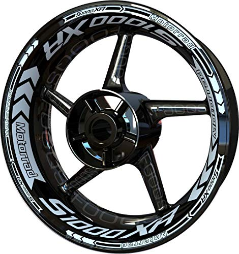 Motocicleta Moto Llanta Inner Rim Tape Decal Pegatinas F2 para S1000 S1000XR S 1000 XR (Blanco 4)