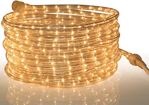 Tupkee Rope Light Warm Clear - 24 Feet (7.3 m), for Indoor and Outdoor use -...