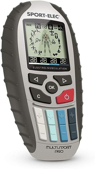 Dispositivo di elettrostimolazione, utile per varie discipline, colore: nero MSPROPRECISION