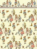 メロディジェーンドールズハウスミニチュア1:24子供童謡クリーム壁紙