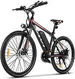 """VIVI Bicicleta Eléctrica, 26""""/27,5 """" Bicicleta Montaña Adulto, Bicicleta Electrica Montaña, 350W Bicicletas Eléctricas con Batería De Iones De Litio Extraíble De 10,4 Ah, Engranajes De 21 Velocidades"""