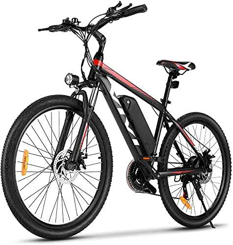 """VIVI Bicicletta Elettrica Pedalata Assistita, 26''/27,5"""" Mountain Bike Elettrica, 350W Bici Elettrica Con Batteria Agli Ioni Di Litio Rimovibile Da 10,4 Ah, Shimano 21 Velocità"""