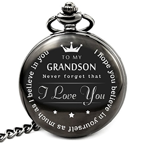 memory gift to My Grand Son Pocket Watch to Grandson Gifts from a Grandpa, Grandma