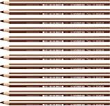 Matita colorata triangolare - STABILO Trio thick - Confezione da 12 - Marrone Chiaro