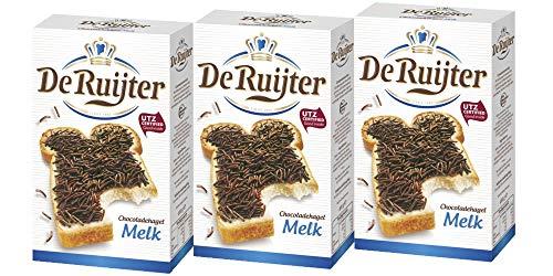 3 x De Ruijter Hagelslag Melk Vollmilchschokolade Streusel 380g