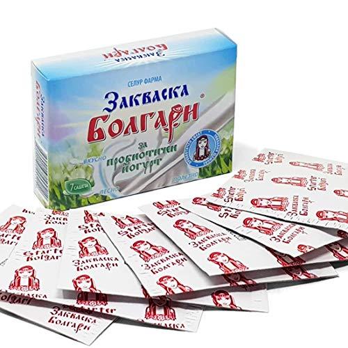 JoghurtfermentBOLGARI - 7 Beutel gefriergetrocknete Starterkulturen für Joghurt mit Lactobacillus rhamnosus
