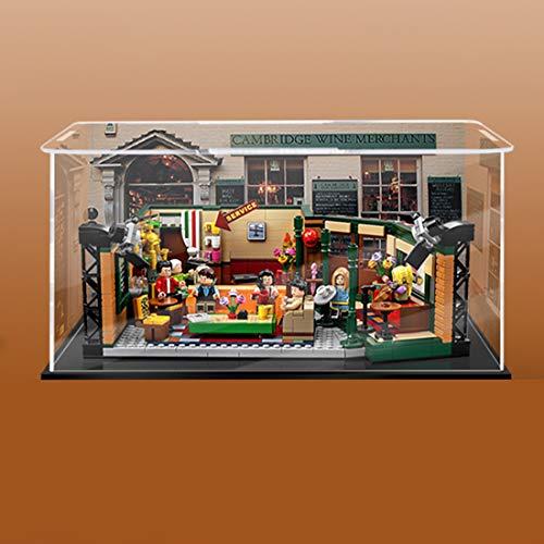 Display Case para Lego, Teakpeak A Prueba de Polvo Vitrina de Acrílico Transparente para Lego Friends Cafe 21319 (Modelo de Lego No Incluido) -3mm