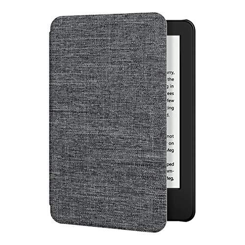 Funda de Tela OLAIKE para el Nuevo Kindle Versión 10th Gen 2019 - La Cubierta Inteligente más Delgada y Liviana con activación/suspensión automática, Gris
