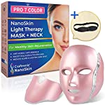 Craftronic NanoSkin Pro 7 Color LED Mask Skin Care | Photon Electric Light-therapy | For Healthy Skin Face & Neck Skin Rejuvenation | Clinically Tested Home & Salon Aesthetic Mask (Rose Gold)