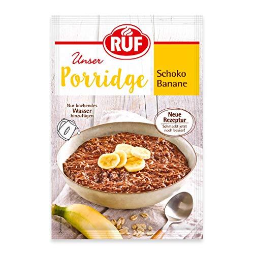 RUF Porridge Schoko-Banane mit Vollkorn Haferflocken, Kakao und Bananenchips, 65 g