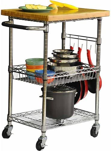 Ikkco EcoStorage Chrome Bamboo Top this chrom Kitchen Super popular specialty store Quantity limited Cart Roll