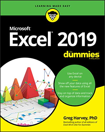 Excel 2019 For Dummies Front Cover
