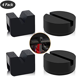 CZS Jack Pad Adapter Rubber for Jack Stands Universal Rubber Pads for Hi Lift Steel Car Jack Stands Slotted Frame Rail Pinch Welds Protector, Black