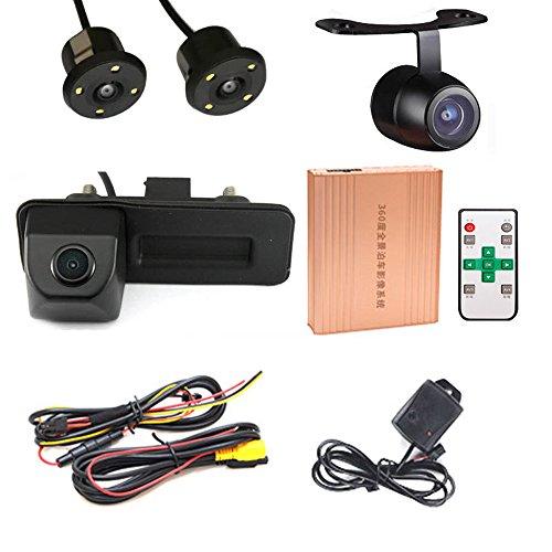 Caméra de recul à 360° pour Voiture Panorama System Car DVR 3D Caméra de recul Avant HD pour Trunk Handle VW Skoda Fabia Y6/Audi A1 2012-2015/VW Golf 5 V Variant 0603 Ale