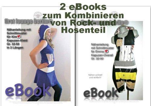 Kim&Emma Nähanleitung mit Schnittmuster auf CD für Kim Jerseykleid und Emma Overoll zum Kombinieren Rock- oder Hosenteil
