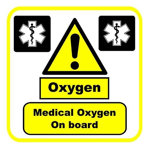 Preisvergleich Produktbild Sauerstoff medicial Oxygen on board Auto Aufkleber dcs62 intern