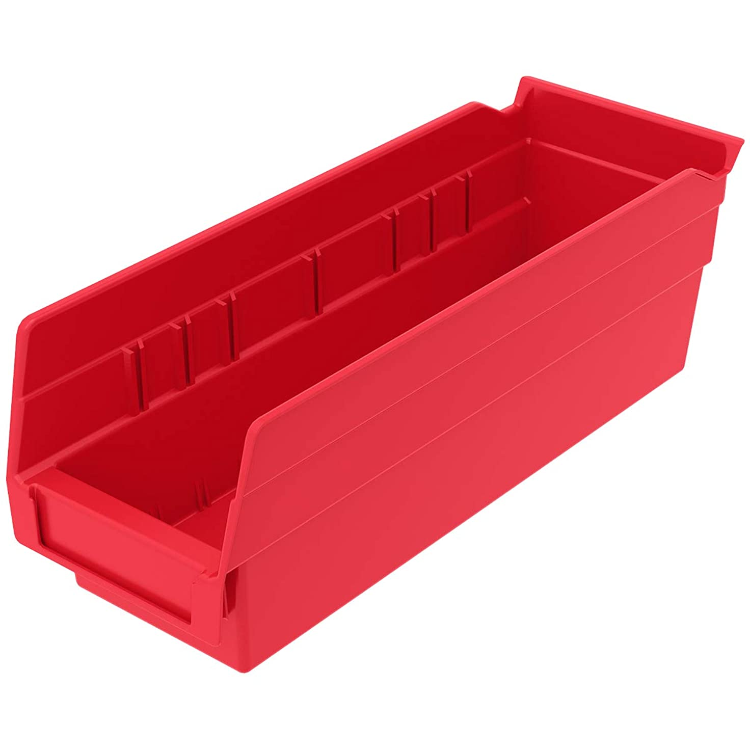 必要熟す軽量akro-mils 30120?12-inch by 4-inch by 4インチクリアプラスチックネストシェルフBinボックス、24パック