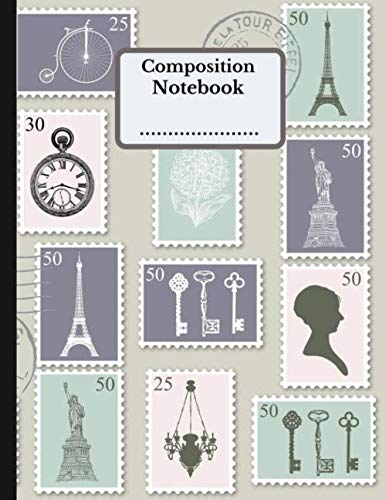 Composition Notebook: cute collection of timbre College Ruled Composition Book, Adorable design Perfect Bound....: for Home School College for ... London and Queen Souvenir lovers Gifts)